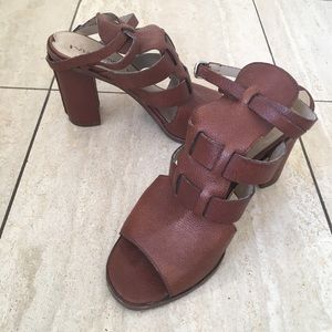 Via Spiga All Leather Ankle Strap Sandals Sz 7.5